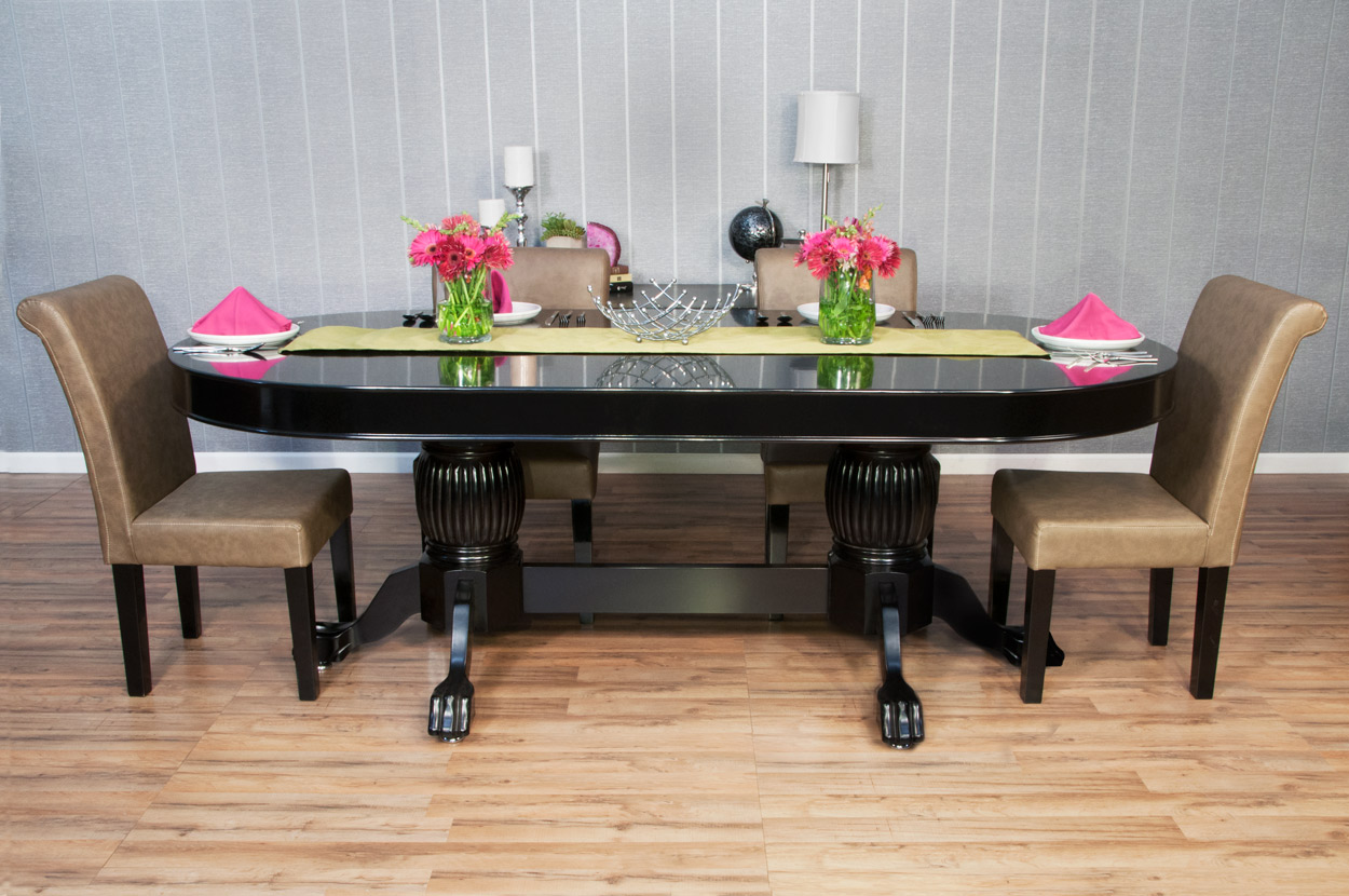 Black Dining Table Top