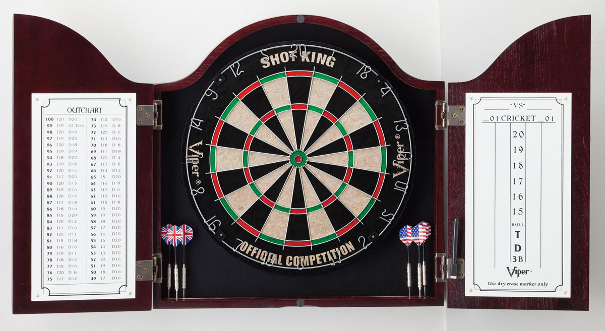 Dartboard not included.