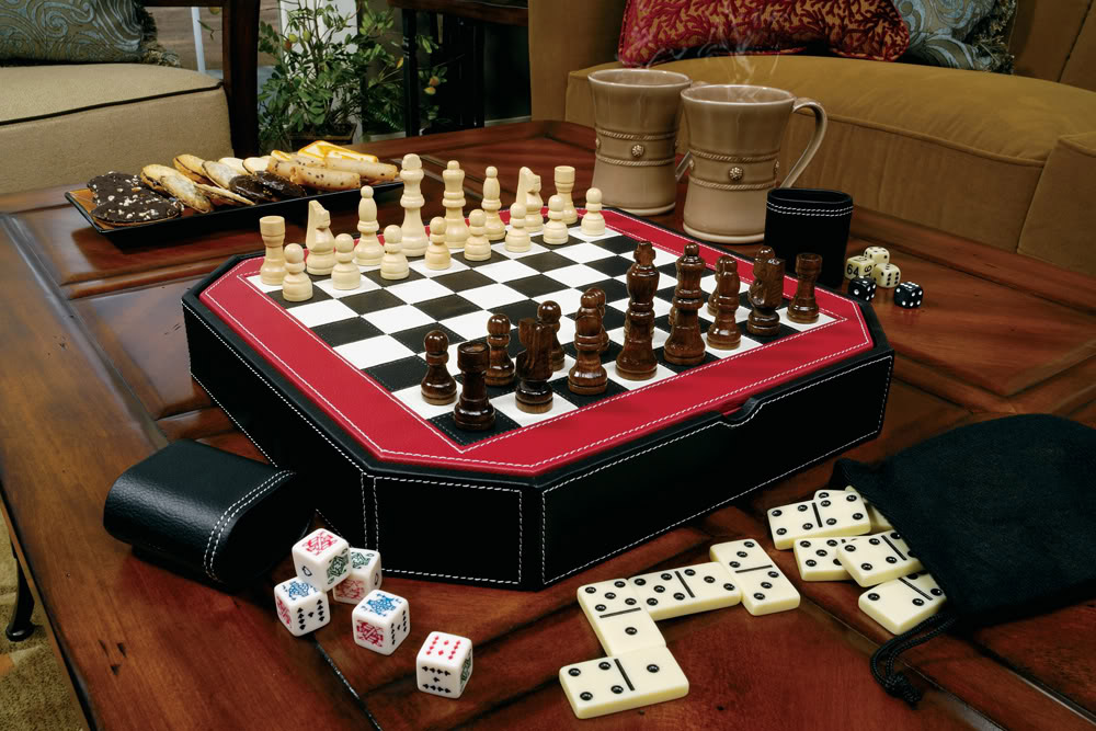 Game Set with Chess Top