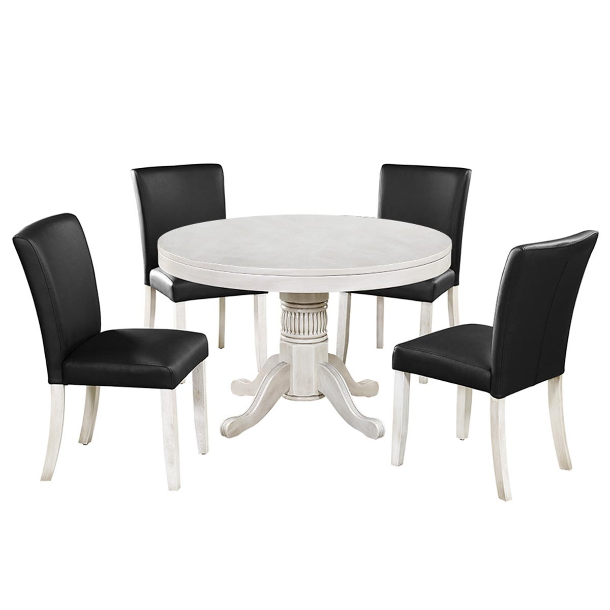 Antique White Finish with Optional Dining Chairs