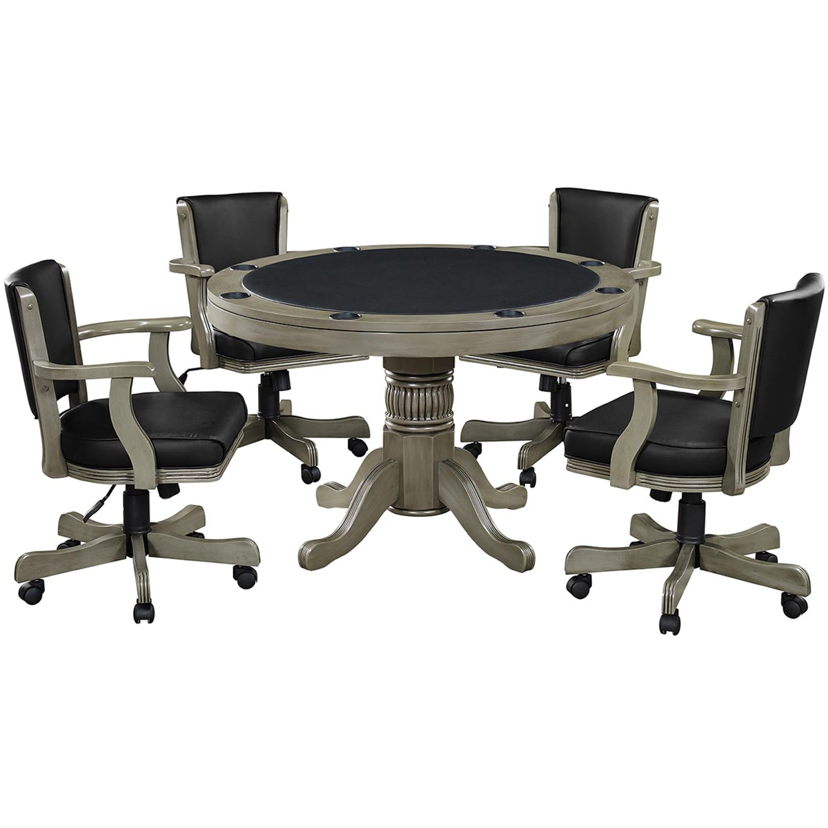 Slate Finish with Optional Swivel Chairs