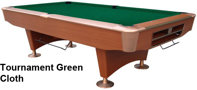 Cherry with Tournament Green Cloth