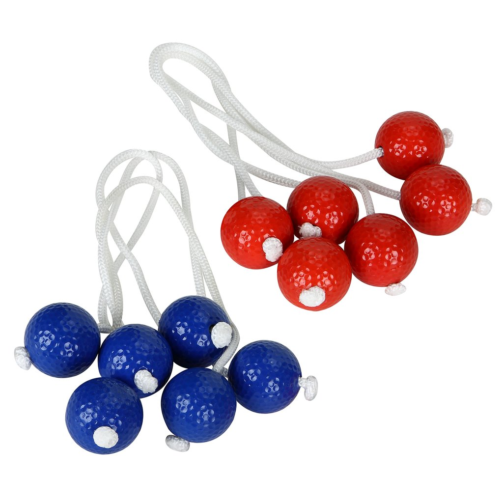 6 ball included 3 red and 3 blue