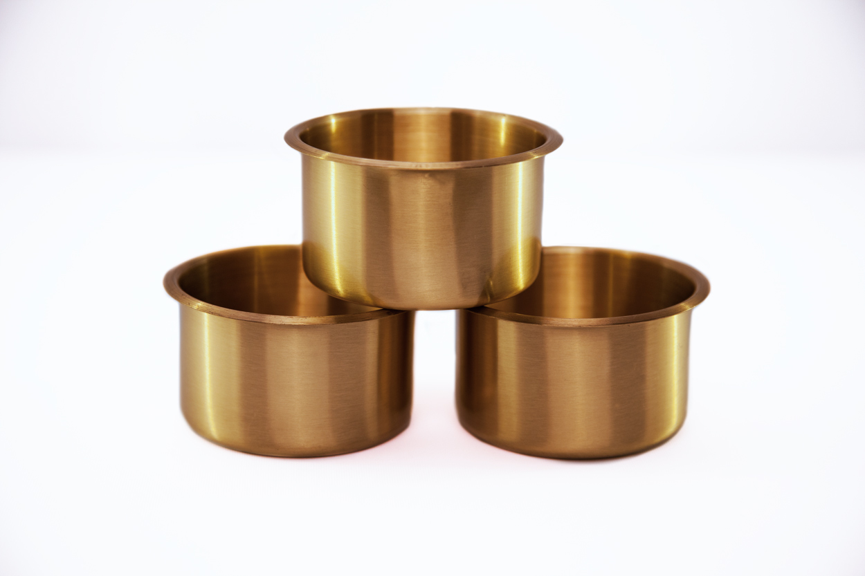 Optional Brass 4in Polished Cupholders (10pc)