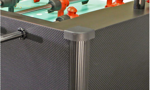 The first Home Foosball Table available in a realistic carbon fiber wrap finish